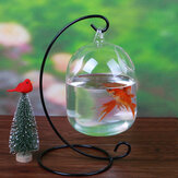 Aquarium Fish Tank Glass Hanging Bowl Flower Plant Vase Table Fish Bowl Height 15cm for Betta Fish Pet Products