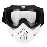 Motorcycle Goggles Detachable Modular Shield Face ATV MX Racing Motocross Mask