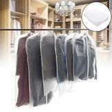 10x Vestuário de Viagem de Terno Bolsa Roupas de Armazenamento de Vestido Cobrem Casaco Jaqueta Zipper