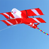 Colorful 3D Aircraft Kite With Handle and Line Good Flying Gift