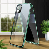 Bakeey 2 in 1 Anti-peeping Magnetic 360º Full Cover Double-sided Tempered Glass Flip Protective Case with Lens Protector Ring for iPhone 11 6.1 inch