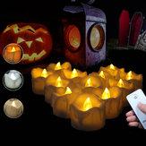 12 SZTUK LED Migotanie Świeca Herbata Światło Z Pilotem do Dekoracji Domu Ogród Balkon