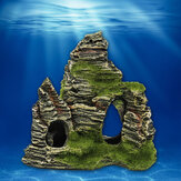 Mountain View Aquarium Rock Cave Stein Baum Brücke Aquarium Ornament Dekorationen