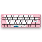 AKKO 3068 World Tour - Tokyo 68 Keys Mechanical Gaming Keyboard Bluetooth 3.0 USB the Sublimation Cherry MX Switch PBT Keycaps Gaming Keyboard