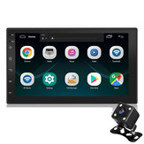 7 Pollici 2 Din Android 8.1 Car Stereo Radio Auto MP5 Lettore MP3 4 Core 1 + 16G Touch Screen GPS Wifi Bluetooth FM con retrovisore fotografica