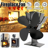 IPRee®Up Grade 4 Blades Fireplace Fan熱火力ストーブファンWood Burner Fan