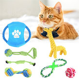 7Pcs Pet Dog Rope Chew Toy Set Tough Knot Ball Cotton Teething Chewing Toys