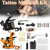 Complete Tattoo Kit 2 Tattoo Machine Set Ink Needles Power Supply Grip