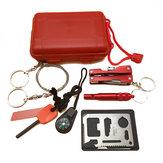 SOS Acil Survival Ekipmanları Kit Outdoor Survival Dişli Parçalar EDC Kampçılık Yürüyüş Survival Aletler Kit
