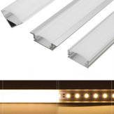 حامل قناة ألمنيوم طراز U / V / YW بقطر 45 سم لـ LED Strip ضوء Bar Lamp Lamp
