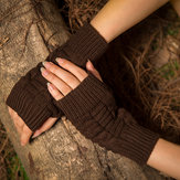 Original              Female Wool Knit Half Finger Typing Diamond Finger Glove