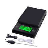 Balance à café multifonctionnelle à main avec sonde de température de minuterie Balance de cuisine numérique LCD Balance électronique