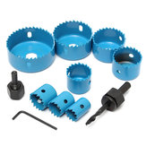 8pcs Blue Hole Saw Cutter Set with Hex Wrench Wood Alloy Iron Cutter for Woodworking