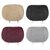 Almofada universal de couro para cobertura de assento de carro sem encosto