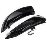 2Pcs Dynamic Flowing Water LED Wing Mirror Lamps Indicator Turn Lights For Ford Fiesta MK7 B-MAX 2008-18