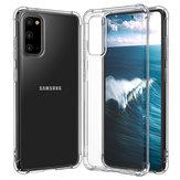 Bakeey Hava Çanta Şeffaf Sarı Olmayan Soft TPU Darbeye Dayanıklı Koruyucu Kılıf Samsung Galaxy S20 2020 için