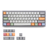 KBDfans 75 Keys Gray & White & Color Keycap Set XDA الملف الشخصي Sublimation PBT Keycaps for 61/64/68 Keys Keyboards الميكانيكية