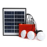 Generador de carga de iluminación de panel 4W Solar 3.7V 5000mAH Li-on Batería Energía Solar Sistema alimentado