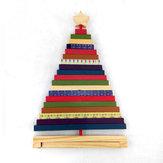 Tournez rayé arbre de Noël en bois ornements cadeaux créatifs décoration jouets