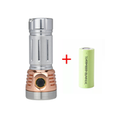 Astrolux MF01 Mini Copper Aluminium 7 * SST20 5500lm EDC Flashlight + HLY 26650 5000mAh 3C القوة البطارية