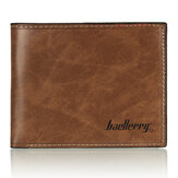 Baellerry Vintage heren portemonnee van imitatieleer, creditcardhouder, slank muntzakje