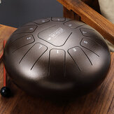10 Inch 11 Notes D Tune Steel Tongue Percussion Drum Handpan Instrument with Drum Mallets and Bag