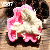 3D Silicone Pegasus Horse Fondant Cake Mold Chocolate Decor Mold Sugar Crafts