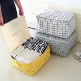 Organizador de roupas dobrável simples Armazenamento durável Bolsa Quilt Blanket Sock Container