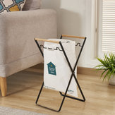 Folding Garbage Bag Holder Stand Door Trash Rack Kitchen Storage Towel Shelf
