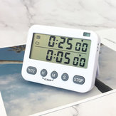 Loskii Kitchen Electric Timer 99 Hours Baking Countdown Timer 2 Group Time Set Silent Timer