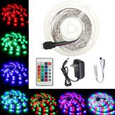 2M 3M 5M 10M DC12V RGB SMD2835 LED Light Strip + 24Keys IR remoto Controllo US Kit completo spina di alimentazione