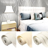 10M 3D No tejido Wave Stripe Papel en relieve Rollos Dormitorio Sala de estar Etiqueta de la pared