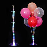 LED Plastic Balloon Stand Base Clear Balloon Stand Birthday Wedding Party Decorations