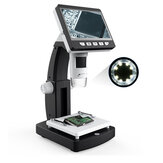 MUSTOOL G710 1000X 4.3 inches HD 1080P Portable Desktop LCD Digital Microscope 2048*1536 Resolution Object Stage Height Adjustable Support 10 Languages 8 Adjustable High Brightness LED