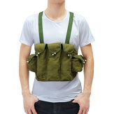 Oxford Cloth Tactical Bag Military Chest Bag Walkie Talkie Storage Bag