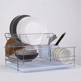 Сушилка для посуды 2 яруса из нержавеющей стали для мытья посуды