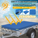 Heavy Duty Tarpaulin Waterproof Ground Tent Trailer Cover 257.5x134.5x5cm