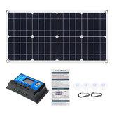 80W 18V Monocrystaline EVA + PET solare Pannello Dual 12V / 5V Caricatore USB DC con kit controller 10A12V / 24V PWM Per barca per camper