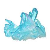 1 Шт. Royal Blue Природные Кристаллы Кварца Кластера Минеральных Образцов Исцеление Украшения Дома