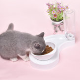 Automatic 2 in 1 Pet Feeder Cat Dog Bowl Waterer Dispenser Puppy Drinking Food Dish