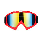 Skiing Goggles Snowboard Ski Eyewear Anti-UV Glasses For Motorcycle Motocross Red Lens