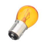 12V 1157 Ampoule Halogène Ampoule En Verre Ambre Frein De Voiture Queue Stop Feux Arrière Ampoule Lampe Universel