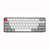 Geek Disesuaikan SK61 61 Tombol Keyboard Gaming Mekanik NKRO Gateron Sumbu Optik Type-C Kabel Lampu Latar RGB Keyboard Gaming