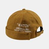Unisex Kişilik Yara Brimless Şapkalar Düz Renk Mektup Nakış Ev Sahibi Şapka Kavun Şapka Hip Hop Şapka