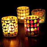 Portacandele in vetro Votive Marocchino Tè Light Table lampada Portacandele