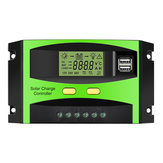 MOHOO 30A 12V / 24V 5V 3A Dual USB Solar Charge Controller Zonnepaneel Regulator Lcd-scherm