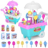 19 PCS Mini Candy Cart Desmontable Ice Shop Shop DIY Juguetes de decoración