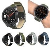 Relógio de couro de lona Banda Substituição de correia de relógio para 47mm Amazfit GTR relógio inteligente