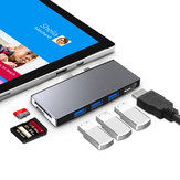 Rocketek SUR759 Surface Pro Hub USB 3.0 Hub Card Reader 4K HD Adattatore per TF / SD / Micro SD / SDHC / SDXC Surface Card Pro 4/5/6