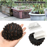Pinecone Caché Cacher Porte-clé Secret Stash Safe Jardin En Plein Air Coffre-fort